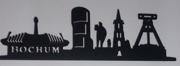 Skyline Bochum-schwarz, Laserzuschnitt 3 mm Stahl
