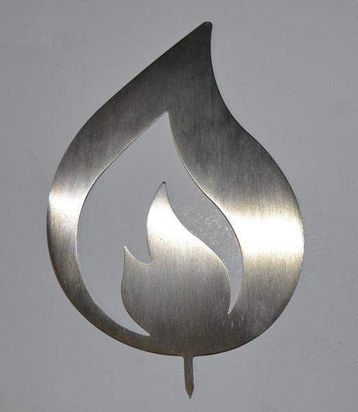 Flamme aus Edelstahl-Laserzuschnitt