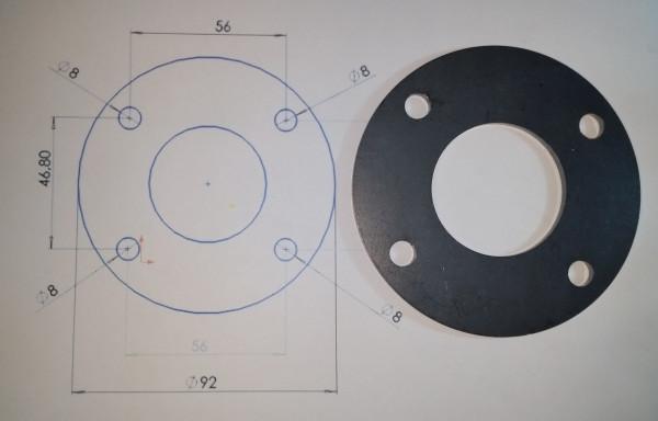 Ronde Stahl 100 mm mit Mittelloch