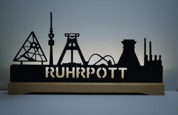 Skyline Ruhrpott schwarz