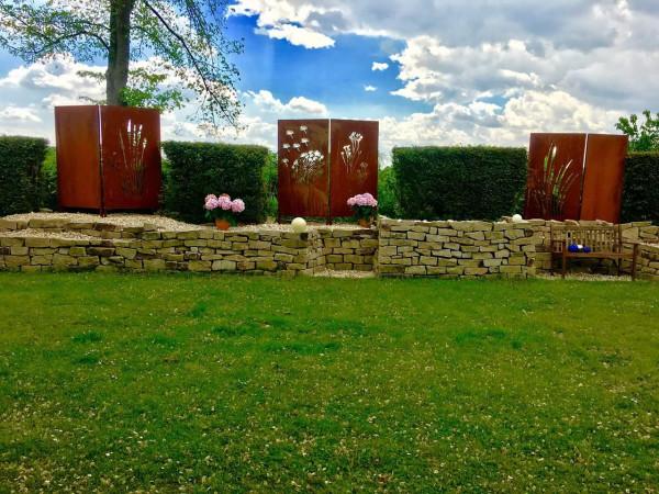 Sichtschutz-Garten-Rostoptik