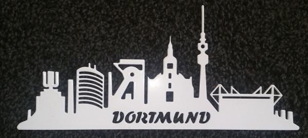 Skyline Dortmund aus 3 mm Stahl - weiss